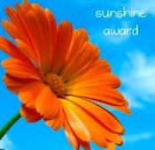 Thank You For The Sunshine Award!